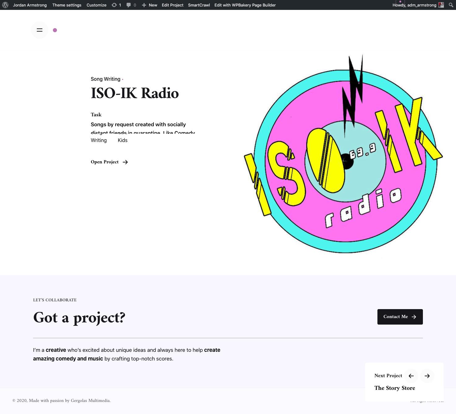 jordan-project page