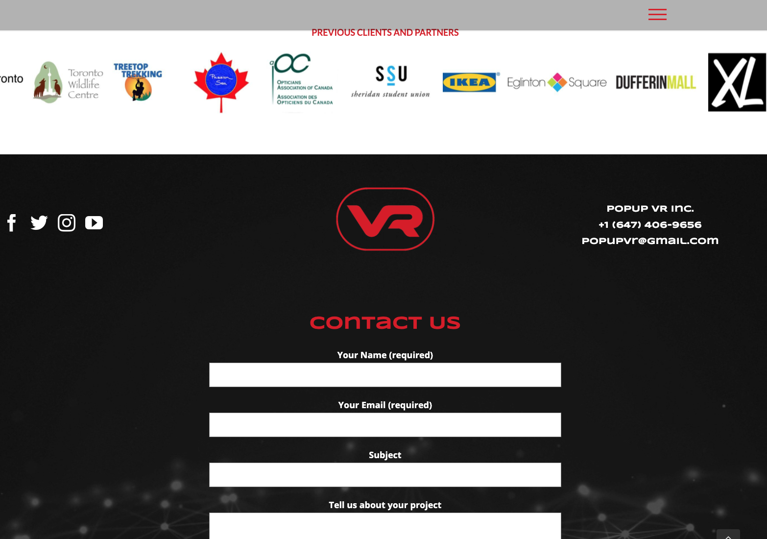 pop-up vr contact us